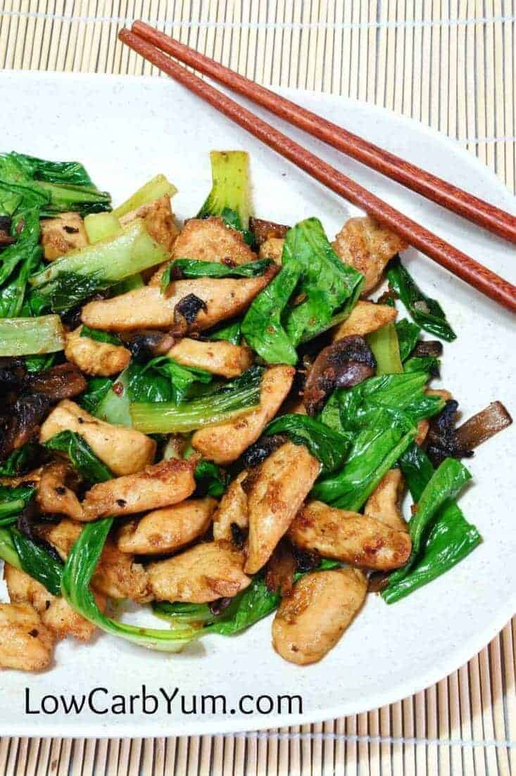 Keto Chicken Bok Choy Stir Fry