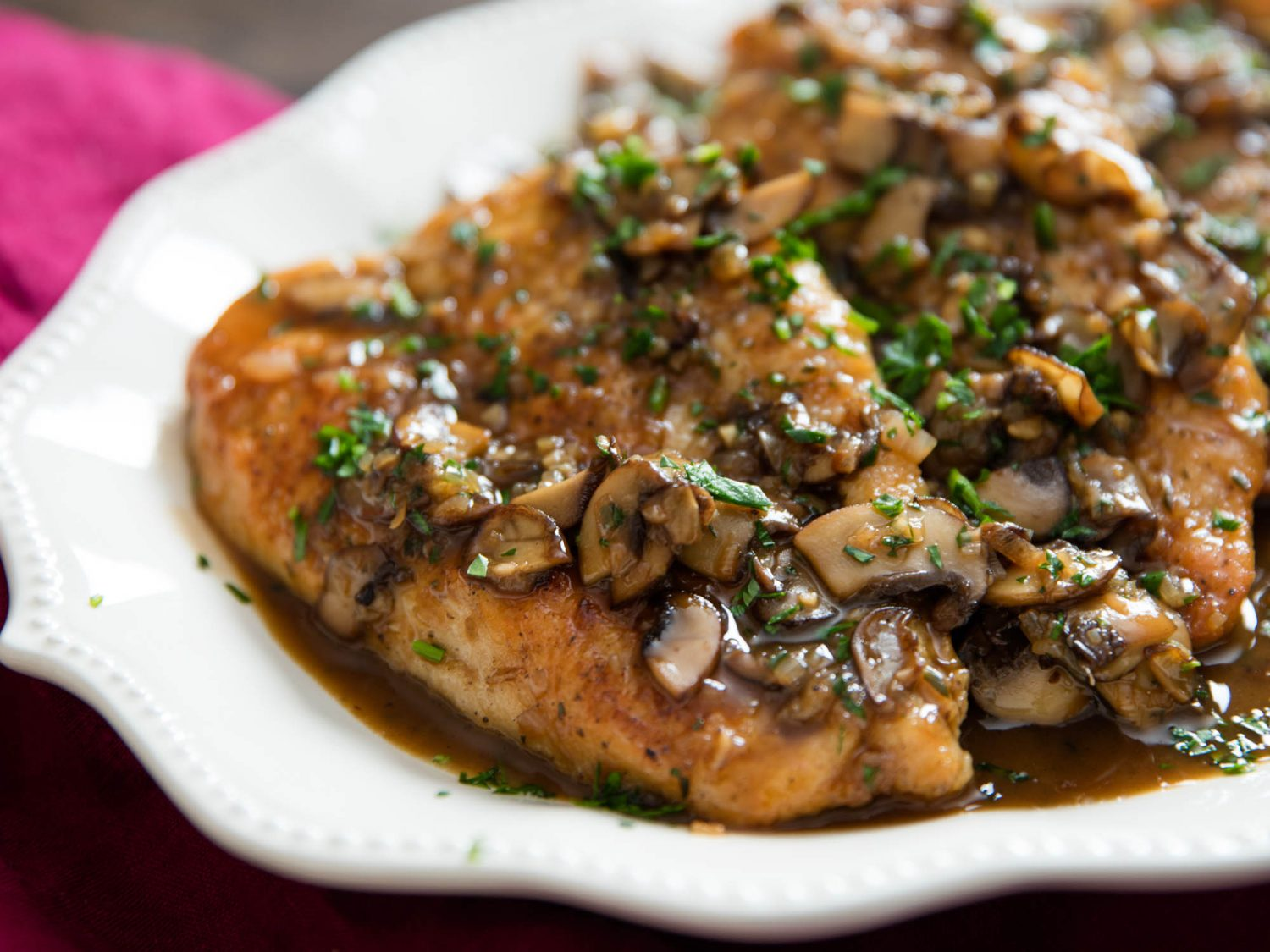 Chicken Marsala or Chicken Saltimboca
